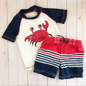 Carter's 24M Boy swimming trunks and shirt